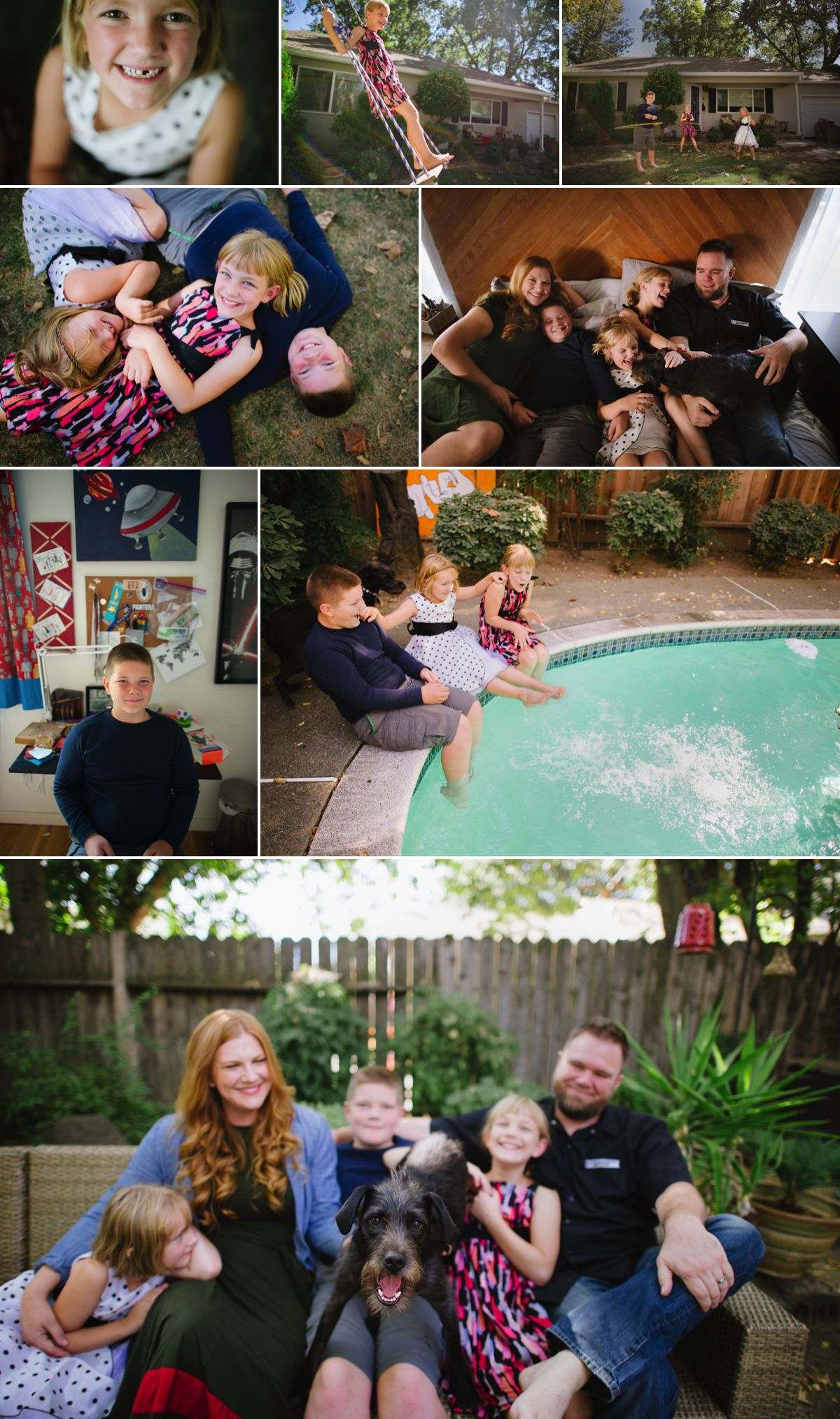 family photography collage in woodland ca